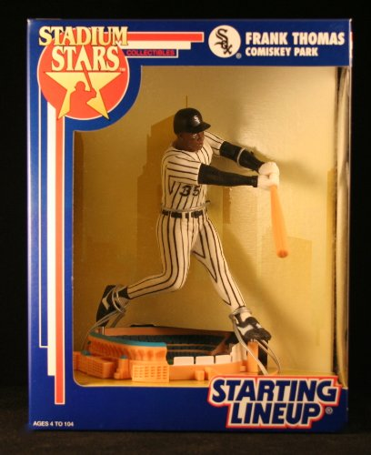 FRANK THOMAS / CHICAGO WHITE SOX 1993 MLB Stadium Stars Starting Lineup Deluxe 6 Inch Figure with Comiskey Park Display Base - 1