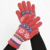 Double-Layered, Super Warm Unisex Gloves with Extra Long Cuff - Cranberry