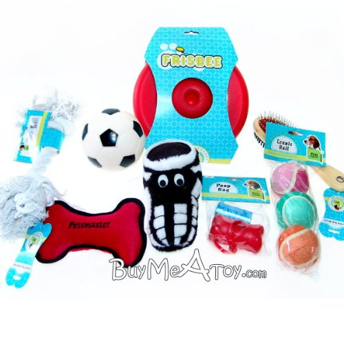 Doggie Scoccer Ball Plush Toy Brush Frisbee Doggie Bags