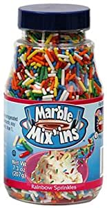 Marble Mix'ins Rainbow Sprinkles, 7.3 Ounce Bottles (Pack of 6)