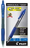 Pilot G2 Retractable Premium Gel Ink Roller Ball Pens, Fine Point, Blue Ink, Dozen Box (31021)