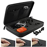 GoPro Case with Fully Customizable Interior by CamKix® - for GoPro Hero 1/2/3/3+/4 and Accessories - Tailor the Case to Your Unique Needs - Ideal for Travel or Home Storage - CamKix® Microfiber Cleaning Cloth Included(Extra Large/Black)