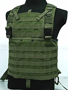 Airsoft Molle Chest Rig Platform Carrier Vest OD