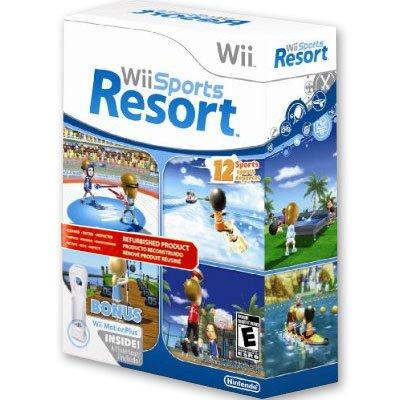 Wii Sports Resort w/ Wii MotionPlus Bundle - Official Nintendo Refurbished Product