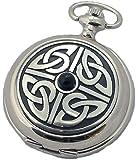 A E Williams 4812 Celtic mens quartz pocket watch with chain