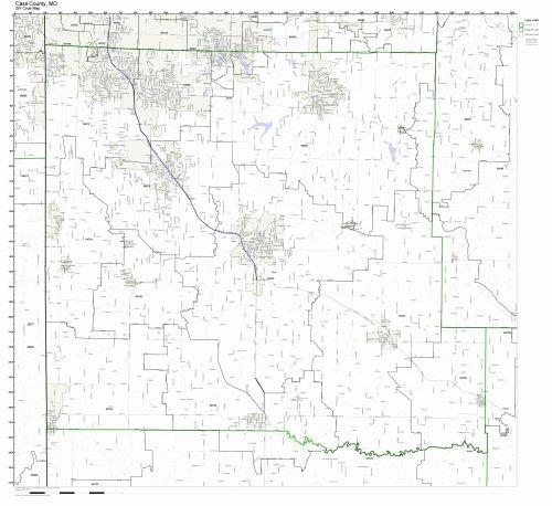 cass-county-missouri-mo-zip-code-map-not-laminated
