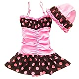 Beautiful Baby Girl Swimsuit Lovely Toddler Swimsuit Princess Style Pink Black