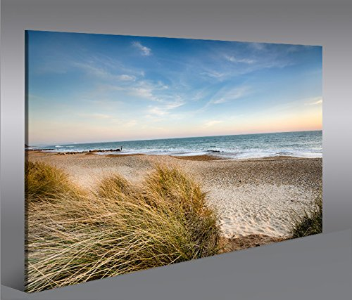 bild auf leinwand strand v2 nordseestrand nordsee ostsee d nen 1p kunstdruck xxl bild poster. Black Bedroom Furniture Sets. Home Design Ideas