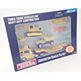 1994 Tonka #27373/27380 Construction Vehicles Playset (10 Piece Set)