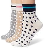 Anne Klein Women's Dot Stripe Shorty Sock 3-Pack