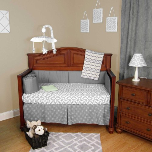 Gray Chevron Baby Bedding 1877 front