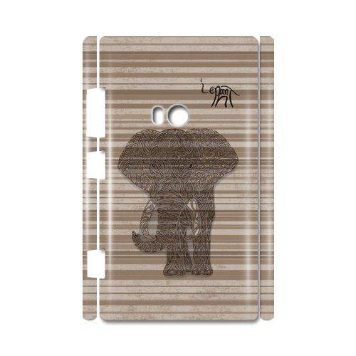 Elephant Art Design Custom 100% Plastic 3D Case For Nokia Lumia 920