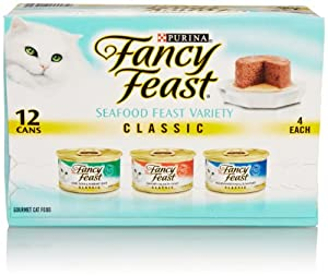 Fancy Feast Gourmet Seafood Variety, Cat Food Canned 12 ea