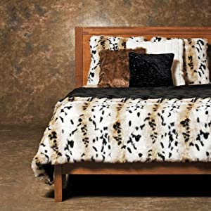 Best Home Fashion 3 Pcs Faux Fur Duvet Cover Set - Lynx at Sears.com