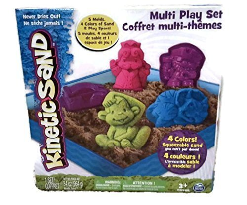 Kinetic Sand Multi Play Set Monkey Dinosaur King Pirate Car (Wheat Free Play Dough compare prices)