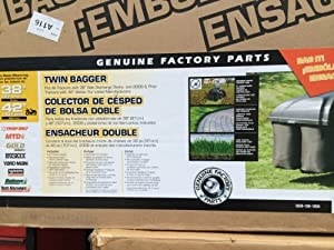 "Toro/MTD Twin Grass Bagging System (fits 2009 and older 38"" & 42"" tractor decks) - OEM-190-180A"
