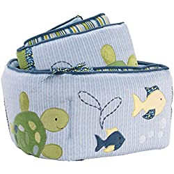 CoCaLo Turtle Reef Crib Bumper, Aqua/Green