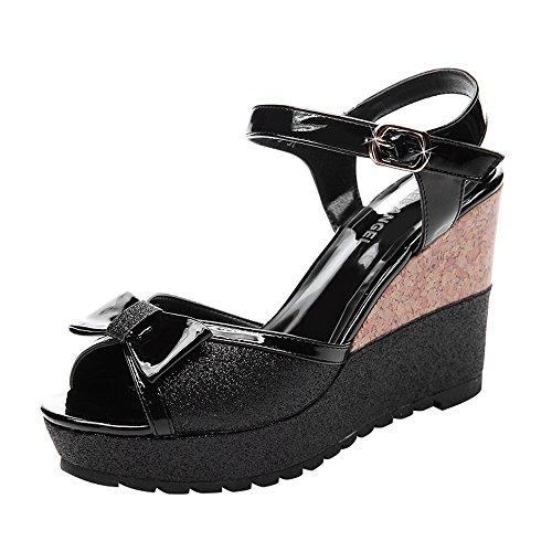fq-real-womens-cute-peep-toe-ankle-strap-wedges-heel-dress-sandals-35-ukblack