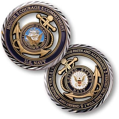 U.S. Navy Core Values Coin