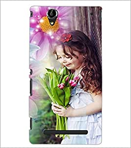 PrintDhaba Cute Baby D-5031 Back Case Cover for SONY XPERIA T2 ULTRA (Multi-Coloured)