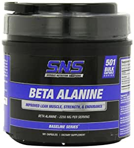 Serious Nutrition Solution Beta Alanine Capsules, 2250 mg, 501 Count