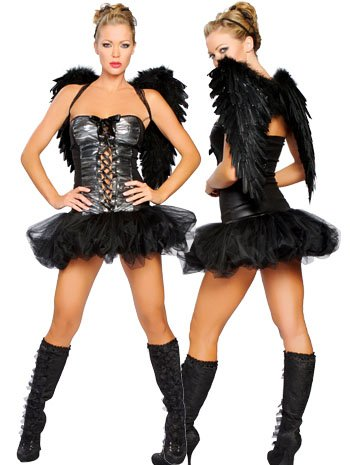 Sexy Fantasy Dark Angel Costume - MEDIUM/LARGE