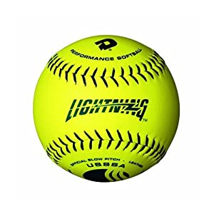 Buy Wilson Mens Softball Slowpitch 12 USSSA .40 325 'Lightning' Yellow Synthetic,... by Wilson