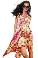 Luftiges pink/goldenes Strandkleid Sommerkleid mit Spaghettiträger