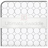 SwaddleDesigns Ultimate Receiving Blanket, Mod Circles, Sterling
