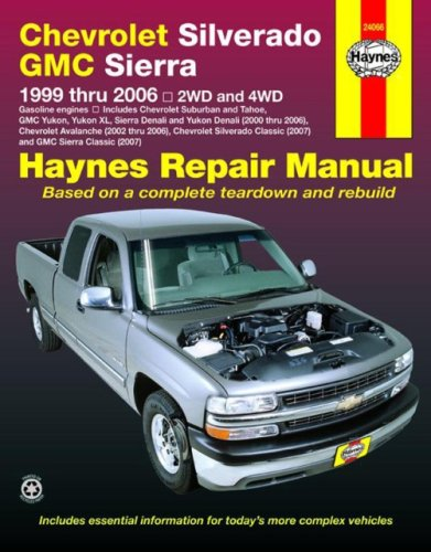 Haynes Chevrolet Silverado Gmc Sierra: 1999 Thru 2006/2Wd-4Wd (Haynes Repair Manual) back-472633