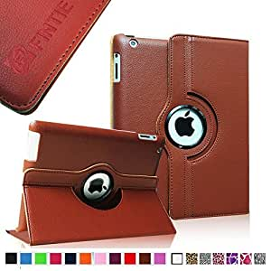Fintie Apple iPad 2/3/4 Case - 360 Degree Rotating Stand Smart Case Cover for iPad with Retina Display (iPad 4th Generation), the new iPad 3 & iPad 2 (Automatic Wake/Sleep Feature) - Brown