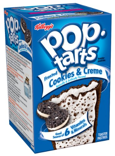 Pop-Tarts, Frosted Cookies & Creme, 8-Count Tarts (Pack of 12)