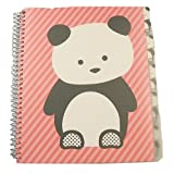 Carolina Pad Studio C College Ruled Poly Cover 5-Subject Spiral Notebook ~ Hair Of The Dog (Panda On