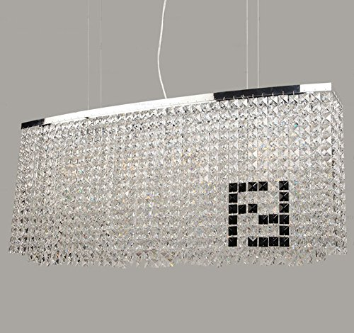 Modern Crystal Chandelier Dining Room Rectangular Chandeliers