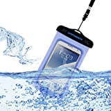 URPOWER® Waterproof Cell Phone Carrying Cases,Waterproof Bag for iPhone 6 iPhone 6 Plus,iPhone 5 5S 5C,iPhone 4 4S, Galaxy S5 S4 S3 S2,Galaxy Note 4 Note 3 Note 2,HTC One M7 M8, Google Nexus 4 5, LG G2, Sony Xperia Z1 Z2 Compatble for Smart Phones up to 5.8 Inch100% Waterproof Certified Underwater Pouch up to 100 feet (Blue)