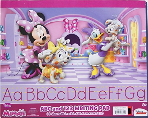 "Minnie Mouse ABC and 123 Writing Pad - 30 Sheets - 10"" x 8"""