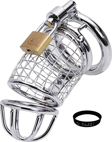 "Firetea New Arrival Fetish Bed Bondage Sex Chastity Device Cage with ""SLAVE ME"" Bracelet, 2"" Ring, DN-036"