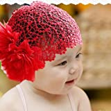 Baby Girls Hair Accessories Baby Child Big Flower Headdresses Wide Lace Collar