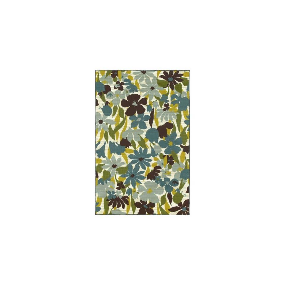Shaw Wallflowers/Surf Printed Area Rug                                  3 x 410