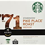 Starbucks Pike's Place Kcups-Medium Roast, 0.44 oz, 16 ct