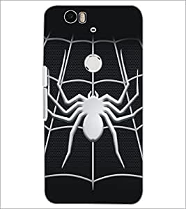 PrintDhaba Spider D-5161 Back Case Cover for HUAWEI NEXUS 6P (Multi-Coloured)