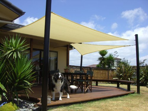 Talentstar 18 x 18 ft Square UV Apontus Sun Shade Sail, Sand (Shade Cover compare prices)