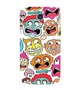 MULTIPLE CARTOONISH FACES 3D Hard Polycarbonate Designer Back Case Cover for Samsung Galaxy S4 :: Samsung Galaxy S4 i9500