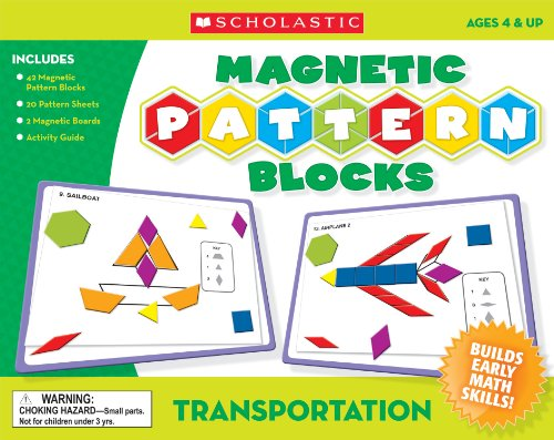 Scholastic Tf7505 Transportation Magnetic Pattern Blocks back-947040