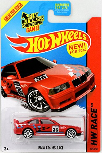 2014 Hot Wheels Hw Race - BMW E36 M3 Race - Red