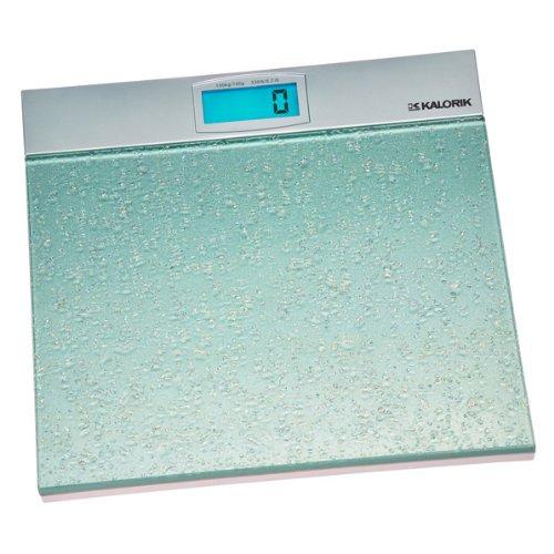 Kalorik Electronic Bathroom Scale, Aqua/Silver