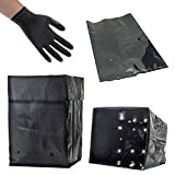 HYDROPONIC GROW BAGS for SOIL, COCO COIR, GRODAN + THCiTY GLOVES - 3 GALLON (25 BAGS)