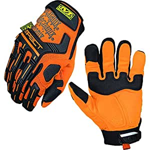 Mechanix Wear M-Pact SMP-99 Orange 8 Synthetic Leather/Trekdry Mechanic's Gloves - Thermoplastic Elastomer Fingers & Knuckles Coating - High-Visibility - SMP-99-008 [PRICE is per PAIR]