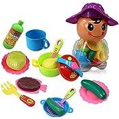 Happy Cherry Pretend Play Kitchen Set For Kids 18 Pcs Tableware Dishes Playset For Kids Playset