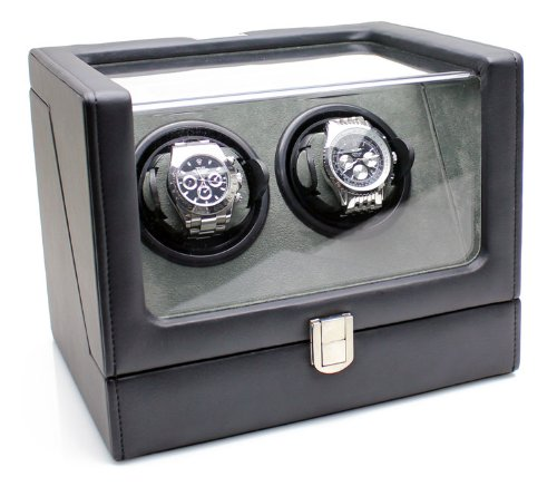 heiden-vantage-double-watch-winder-with-lcd-black-leather